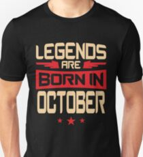 10 Legends Are Born In October T-Shirt