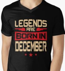 12 Legends Are Born In December Men's V-Neck T-Shirt