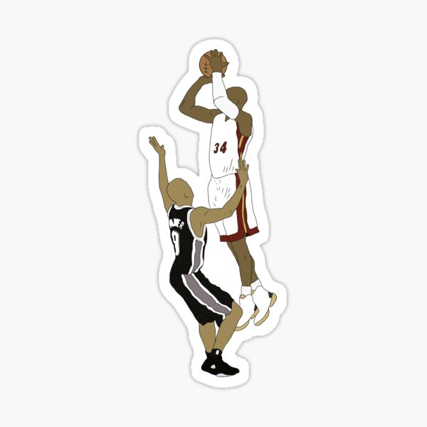 Ray Allen Clutch Shot Sticker