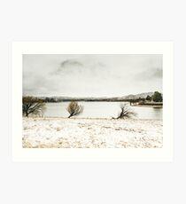 Frosty Lake Jindabyne Art Print