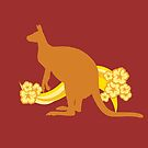 Kangaroo with Flowers by witandwhimsey
