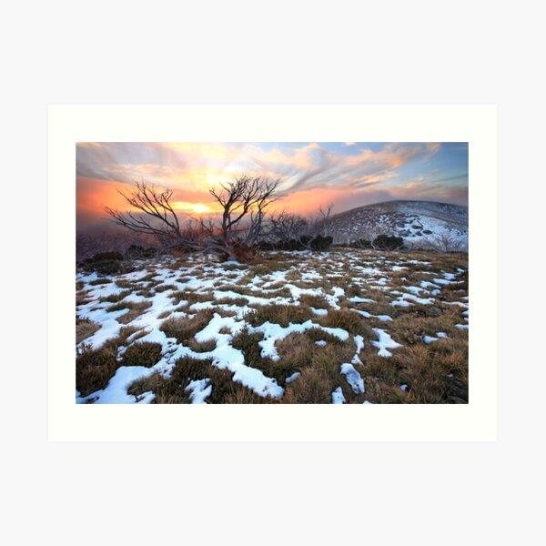 Mt Hotham Early Winter Sunset, Australia Art Print