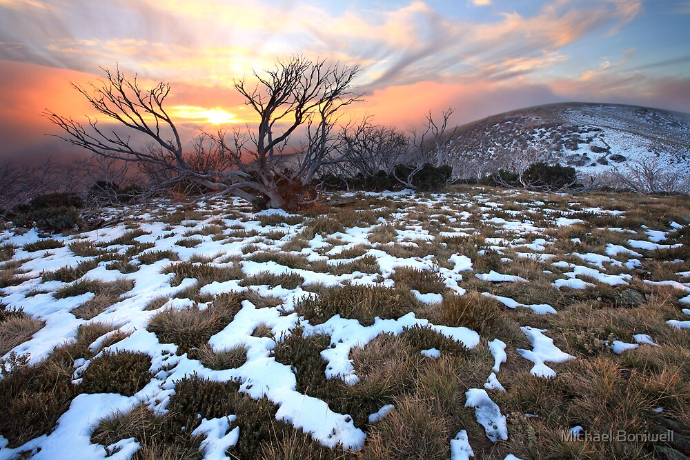 mt hotham early winter sunset australia by michael. Black Bedroom Furniture Sets. Home Design Ideas