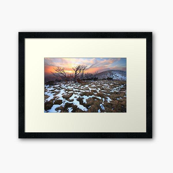 Mt Hotham Early Winter Sunset, Australia Framed Art Print