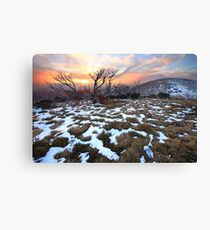 Mt Hotham Early Winter Sunset, Australia Canvas Print