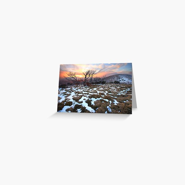 Mt Hotham Early Winter Sunset, Australia Greeting Card