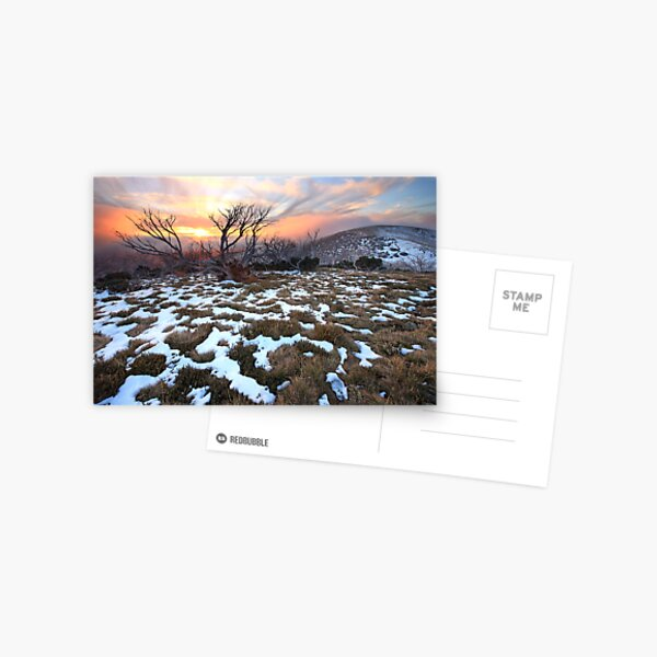 Mt Hotham Early Winter Sunset, Australia Postcard