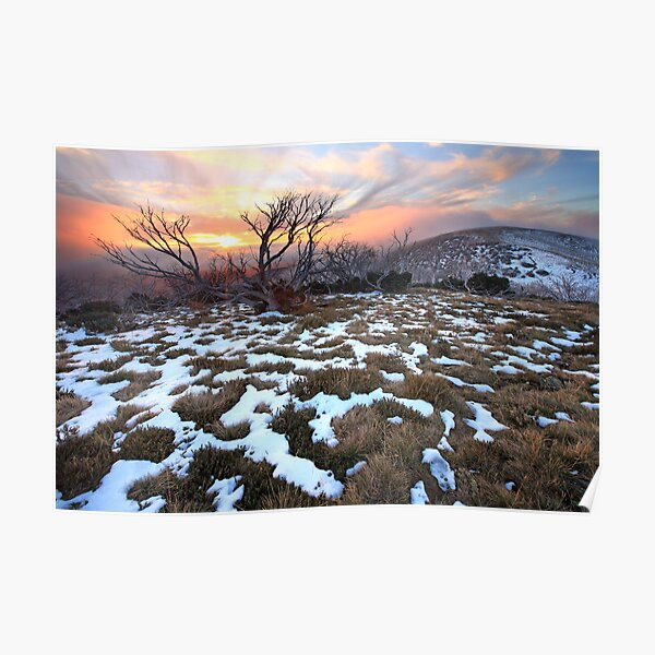 Mt Hotham Early Winter Sunset, Australia Poster