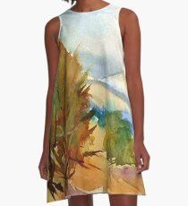 Magaliesberg Mountains A-Line Dress