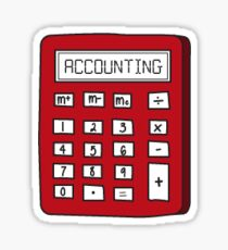 Accounting Calculator Sticker