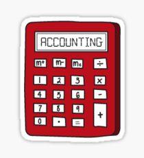 Accounting Calculator Sticker