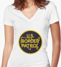 Border Patrol Women's Fitted V-Neck T-Shirt