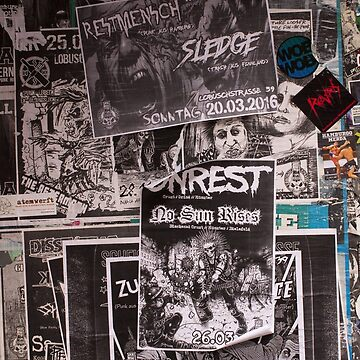 A wall full of Punk Rock concerts adds by hypnotzd