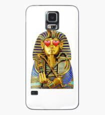 König Tut Herz Augen Emoji Hülle & Klebefolie für Samsung Galaxy