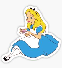 Alice with Tea Sticker