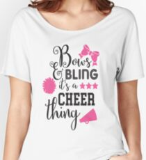 Bows & Bling It's A Cheer Thing Women's Relaxed Fit T-Shirt