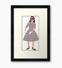 Steam Punk 50s-60s Dot Style Framed Print