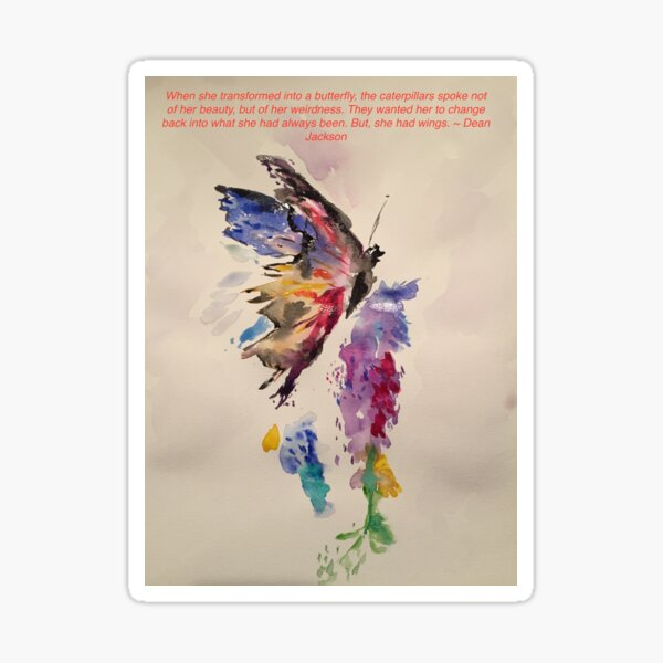 My Favorite Butterfly with Quote Sticker