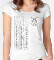 Grayscale Exorcizamus te...  Women's Fitted Scoop T-Shirt
