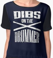Dibs on the Drummer Chiffon Top