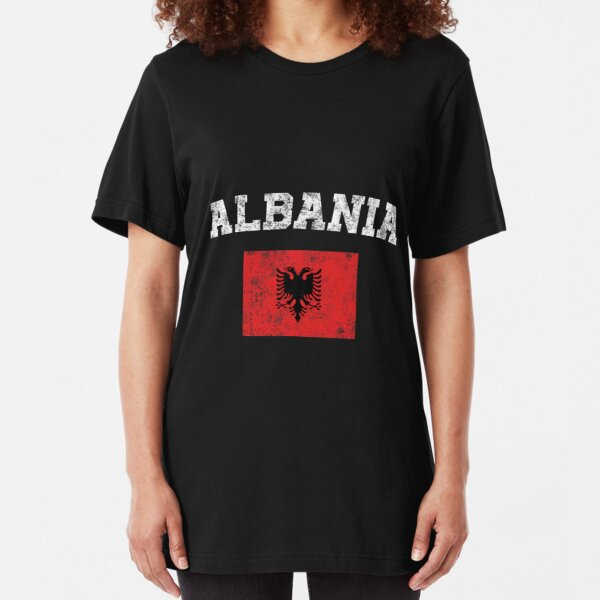 Ladies T-Shirt KEEP CALM /& Support ALBANIA Football Womens