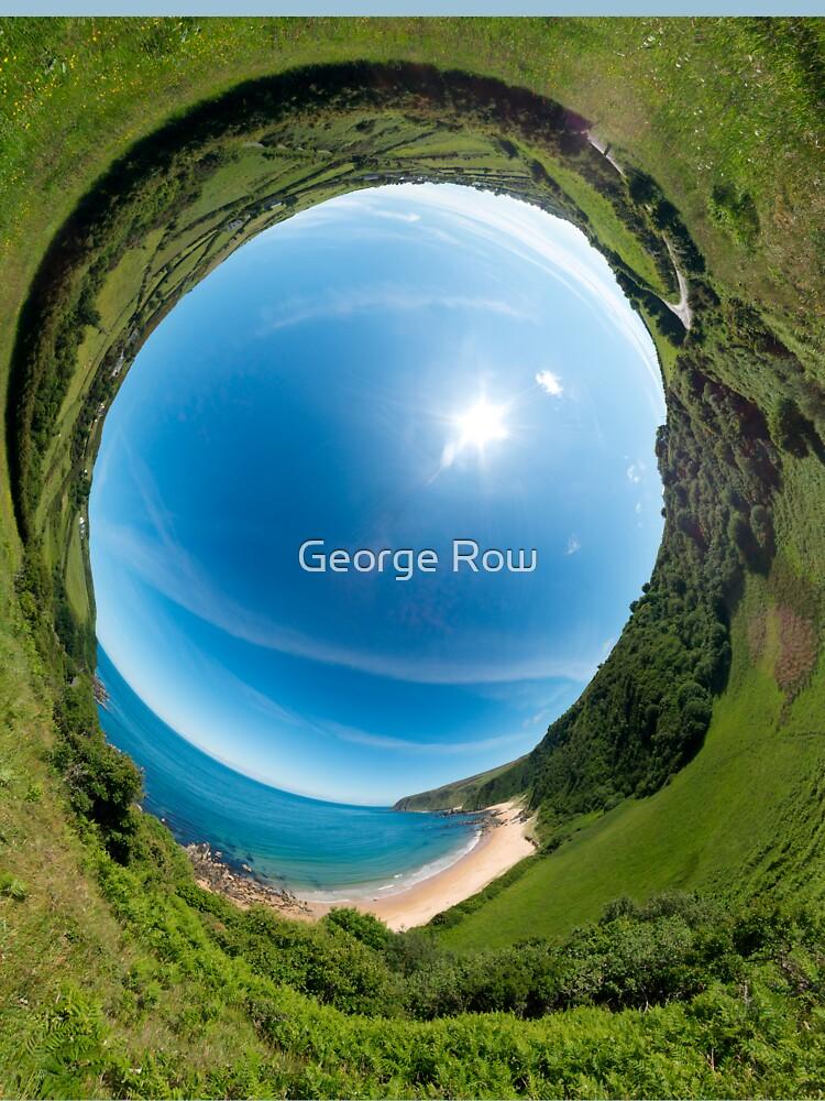 Kinnagoe Bay - Sky In by VeryIreland