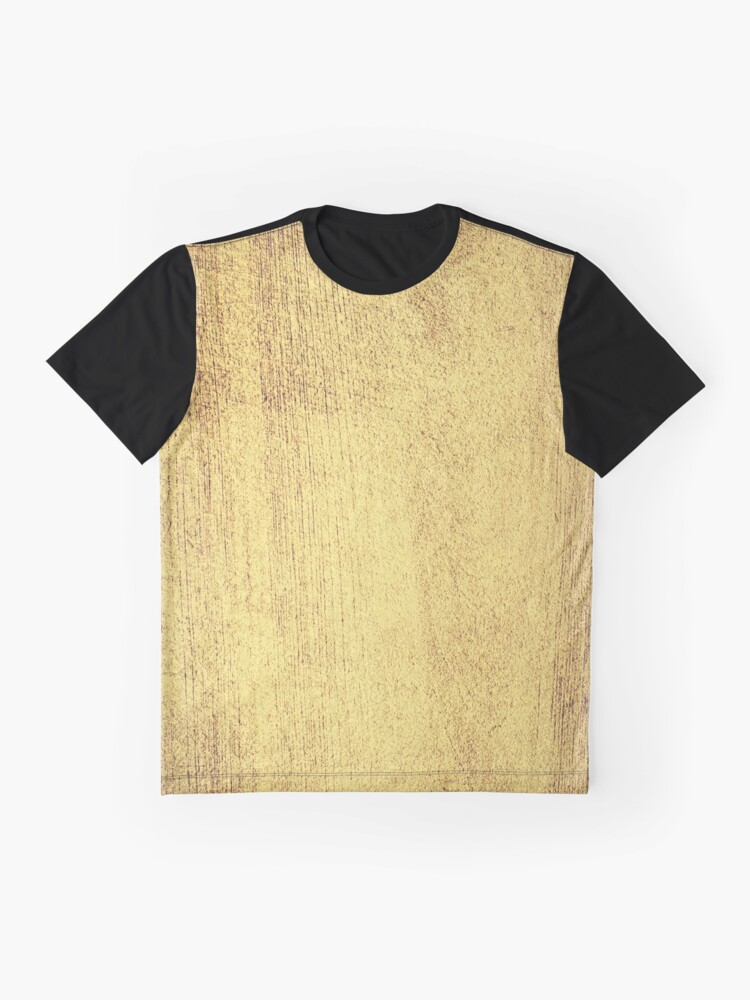 Alternate view of Antique Gold Metallic Foil Graphic T-Shirt