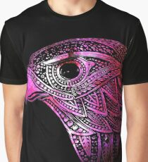 Galaxy Hawk ( red/pink ) Graphic T-Shirt