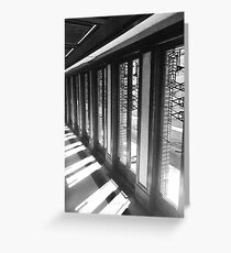 Frank Lloyd Wright Windows Greeting Card