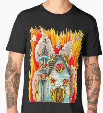 FLAMING CHURCH Men's Premium T-Shirt