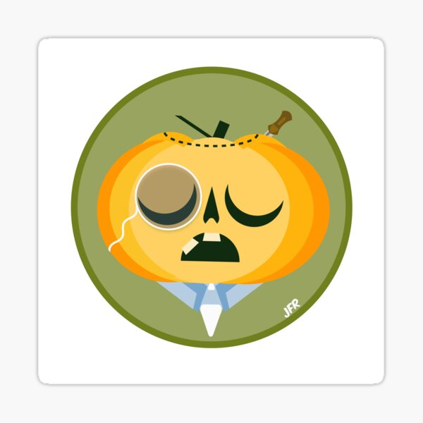 Sir. Gregory Pumpkin Sticker