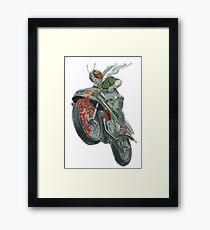 KAMEN RIDER V3 MOTORCYCLE #2 Framed Print