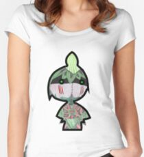 Cute Little Leaf Warrior Women's Fitted Scoop T-Shirt