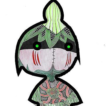 Cute Little Leaf Warrior by thebossGOD1