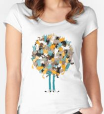 Cats on catnip Women's Fitted Scoop T-Shirt