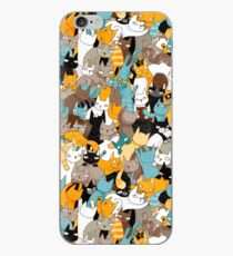 Cats on catnip iPhone Case