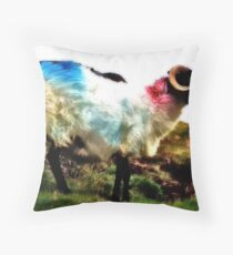 Ovine View Throw Pillow