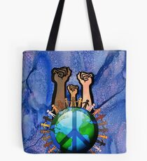 Unity And Peace - Raised Fists! Tote Bag
