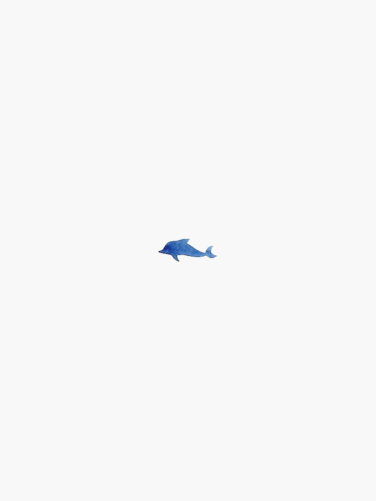 little blue dolphin by stickersnstuff