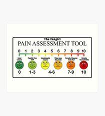 Fangirl Pain Assessment Tool Art Print