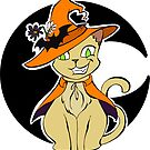 Halloween Witch's Cat - White by SuspendedDreams