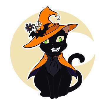Halloween Witch's Cat - Black by SuspendedDreams