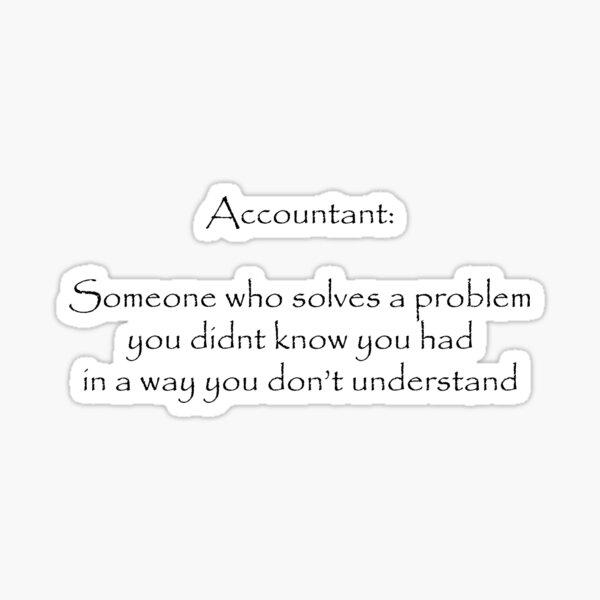 Accountant Joke Sticker