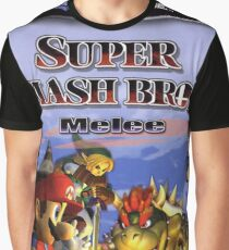 Super Smash Bros Melee Boxart Graphic T-Shirt