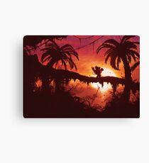 Sunset Shore (Zweite Auflage - Nur 50 Abzüge!) Leinwanddruck
