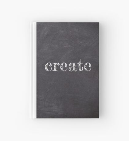 Create on Chalkboard Hardcover Journal