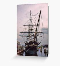 Sailing Into History Greeting Card