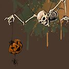 Spooky Skeleton and Jack-o-Lantern for Halloween by SuspendedDreams