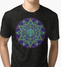Psychedelic Bassnectar Sacred Mandala Trippy Hallucinogenic  Tri-blend T-Shirt