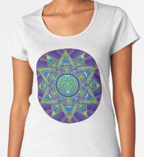 Psychedelic Bassnectar Sacred Mandala Trippy Hallucinogenic  Women's Premium T-Shirt